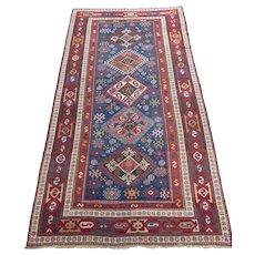 Antique Kazak Oriental Rug  , Southwest Caucasian , Last Quarter 19th Century , 9.7 x 4.11