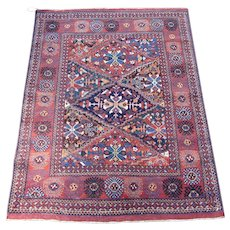 Afshar Oriental Rug , Southeast Persia , Early 20th Century , 5.8 x 4.6