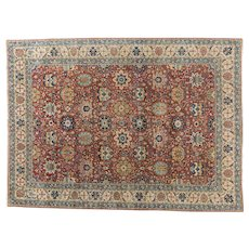 1920's Tabriz Carpet Oriental Rug 11.3x8.1 , Azerbaijan Province , Northwest Persia