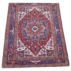 Persian handmade Heriz Oriental Rug,Azerbaijan Province,Northwest Persia circa 1930 , 4.3 x 3.5