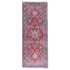 Persian handmade Sarouk circa 1930 , 6.6 x 2.6