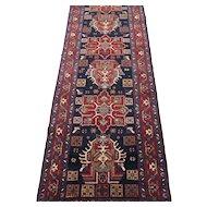 Heriz Area Runner Oriental Rug , Azerbaijan Province , Northwest Persia , 1st Quarter 20th Century  10.10 x 3