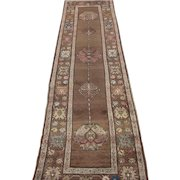 Northwest Persian Runner , Oriental Rug , 1st Quarter 20th Century , 12.10 x 3.6