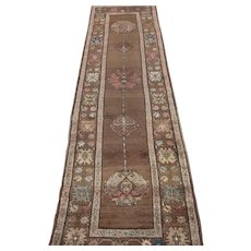 Northwest Persian Runner , Oriental Rug , 1st Quarter 20th Century , 12.10 x 3.6