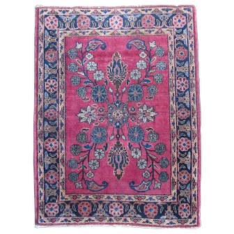 Fine Persian Sarouk Mat , West Central Persia circa 1910 , 2.6 x 1.10