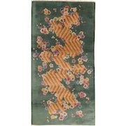 Nichols Chinese Art Deco Oriental Rug , Tientsin , NE China , 1930's , 5.8 x 2.11