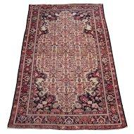 Antique Malayer Oriental Rug , Western Persia circa 1910 , 6.6 x 4.1