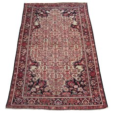 Antique Malayer Oriental Rug , Western Persia circa 1910 , 6.6 x 4.1