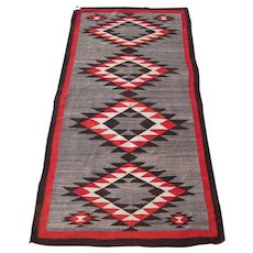 Navajo Long Rug , American Southwest , 1st Quarter 20th Century , 8.9 x 4.5