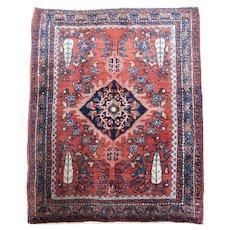 Antique Sarouk Ferahan Mat ( Pushti ) , West Central Persia circa 1900 , 2.3 x 1.10
