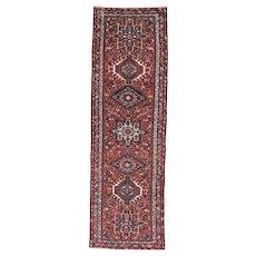 Small Karadja Runner , Oriental Rug , Heriz Area , NW Persia circa 1930 , 8.2 x 2.7