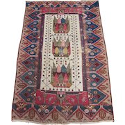 Antique Malayer Scatter Oriental Rug , West Central Persia circa 1900 , 3.11 x 2.7