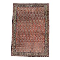 Antique Kurdish Scatter Oriental Rug , Western Persia , End of 19th Century , 6.2 x 4.5