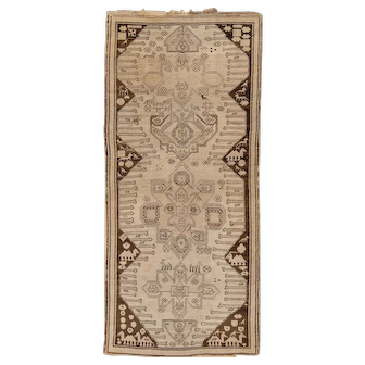 Karabagh Caucasian Long Rug , 3.10 x 8.7   circa 1900