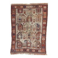 Antique Distressed Afshar Oriental Rug 5.2x3.8 , SE Persia circa 1890