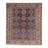 Karadja Square Oriental Rug , Northwest Persia circa 1910 , 5.10 x 4.11