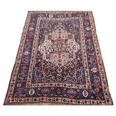 Qashqai Small Carpet , Oriental Rug 1920's , 7.11 x 5.7