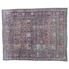 Antique Dorokhsh Carpet Oriental Rug 11.9x9.6 , NE Persia,Khorassan Province circa 1900