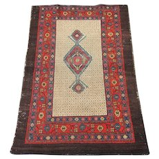 Antique ScatterCamel Hair Rug , Hamadan Weaving Region circa 1900 , 4.5 x 3