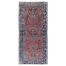 Antique Mohajeran Sarouk 5.8x2.7 Oriental Rug , Central Persia 1910's