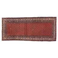 Antique Kurd Hamadan 8.6x3.8 Long Rug , Western Persia circa 1910
