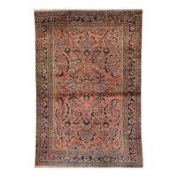 Lilian Oriental Rug 4.11 x 3.4 Western Persia circa 1920's