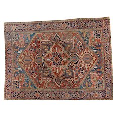 Antique Heriz Oriental Rug 12.1x9.2 NW Persia,Azerbaijan Province circa 1910's