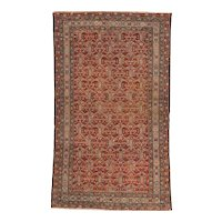 Antique Malayer Oriental Rug 6.2x3.7 , Western Persia circa 1890
