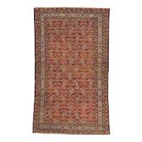 Antique Malayer Oriental Rug 6.2x3.7 , Western Persia circa 1890