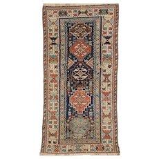 Antique Kurd Long Oriental Rug, Kurdistan,West Persia circa 1890