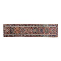 Antique Karadja Runner 12.10 x 3 , Oriental Rug, NW Persia circa 1910