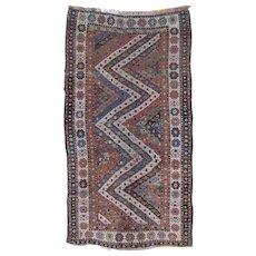 Antique South Caucasian 8 x 4.4  Long Oriental Rug circa 1890