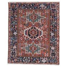 Karadja Oriental Rug 4.5 x 3.8, NW Persia , Azerbaijan Province 1930's
