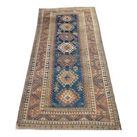 Antique Kazak Rug 8.9 x 4.3 circa 1900