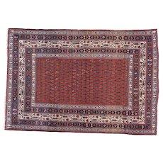 Antique Persian Malayer Oriental Rug circa 1910 , 6.4 x 4.4