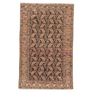 Antique Malayer Oriental Rug 6.7x4.1 , Greater Hamadan Weaving Region , Western Persia circa 1910's
