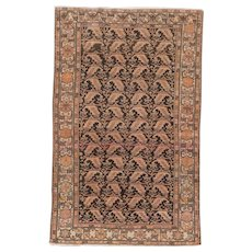 Antique Malayer Oriental Rug 6.7x4.1 , Greater Hamadan Weaving Region , Western Persia circa 1910's