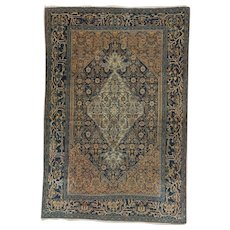 Antique Bibikabad Oriental Rug 6.4x4.3 , Greater Hamadan Weaving region , Western Persia circa 1900