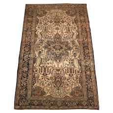 Antique Persian Sarouk Ferahan Oriental Rug circa 1910 , 6.6 x 4.1