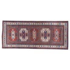 Antique Kazak Long Oriental Rug 9.2x3.10 , Karachof Village,SW Caucasian circa 1900