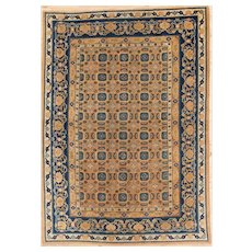 Antique Khotan Small Carpet 8.8x6.2  circa 1900