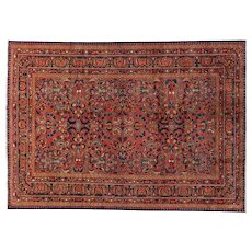Vintage Lilian Small Carpet Oriental Rug 10.2x7, West Persia 1930's