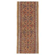 Antique Serab Runner Oriental Rug 11.9 x 3.7 , NW Persia circa 1890's