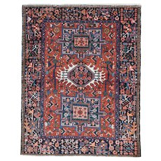 karadja Oriental Rug 4.5x3.5 , Azerbaijan Province , NW Persia 1940's