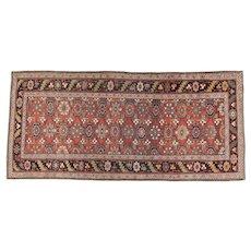 Antique Bidjar Long Oriental Rug 9.7x4.6 , Kurdistan , Western Persia circa 1900