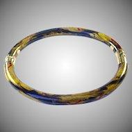 Vintage SOHO 18k Gold Enamel Bangle Bracelet