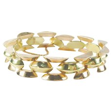 1940's Retro Moderne Rose and Yellow Gold Bracelet