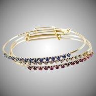 Rare and Fabulous Harem Bracelet--Ruby Diamond Sapphire 14k Gold