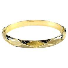 Enamel Gold Bangle Bracelet