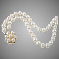 Lovely 2-Strand Pearl 14k Gold Bracelet